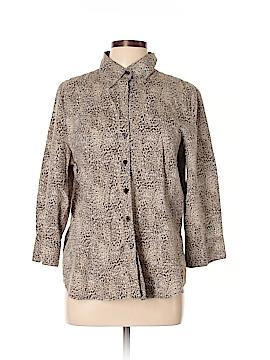 Kim Rogers 3/4 Sleeve Button-Down Shirt Size XL