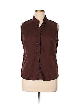 George Sleeveless Button-Down Shirt Size XL