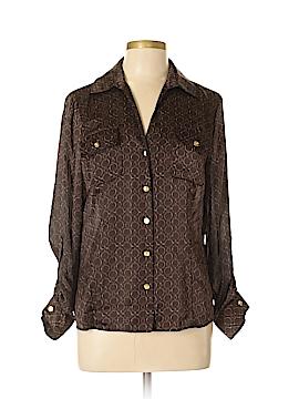 Jones New York Long Sleeve Blouse Size 12 (Petite)