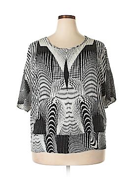Unique Spectrum Short Sleeve Blouse Size 2X (Plus)