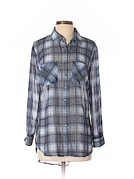 Xhilaration Long Sleeve Button-Down Shirt Size S