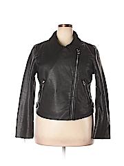 Vigoss Women Faux Leather Jacket Size 2X (Plus)