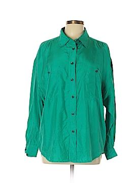 Jonathan Martin Long Sleeve Silk Top Size L
