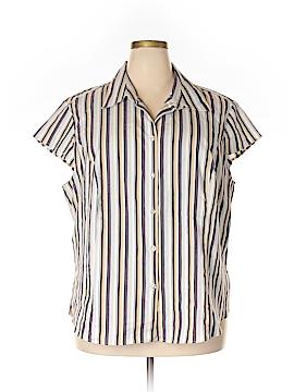 George Short Sleeve Button-Down Shirt Size 26W - 28W (Plus)
