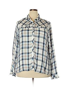 Knox Rose Long Sleeve Button-Down Shirt Size XXL