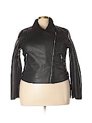 Vigoss Women Faux Leather Jacket Size 1X (Plus)