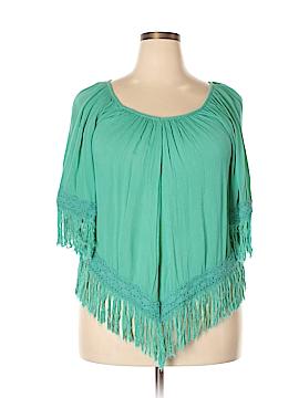 Fashion Fuse Short Sleeve Blouse Size 1X (Plus)