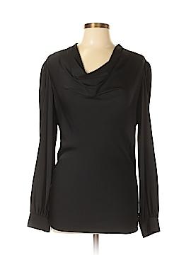 Armani Collezioni Long Sleeve Silk Top Size 12