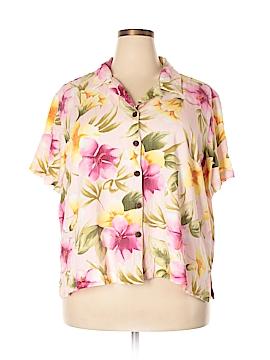 Caribbean Joe Short Sleeve Button-Down Shirt Size 3X (Plus)