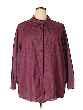 Joan Rivers Long Sleeve Button-Down Shirt Size 2X (Plus)