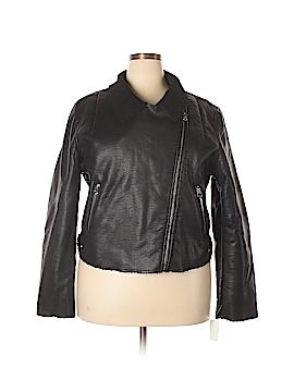 Vigoss Faux Leather Jacket Size 3X (Plus)