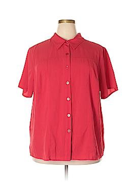 Cj Banks Short Sleeve Button-Down Shirt Size 3X (Plus)