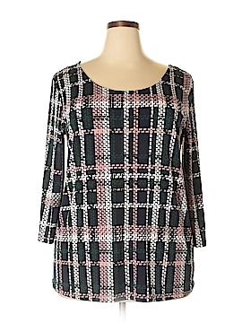 Nina Leonard 3/4 Sleeve Top Size 2X (Plus)