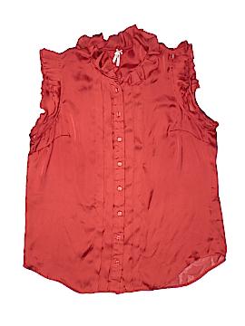 Lapis Short Sleeve Button-Down Shirt Size L