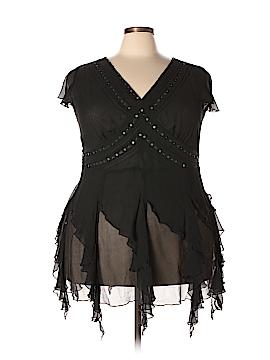 Seven7 Short Sleeve Silk Top Size 22/24 (Plus)