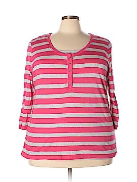 Style&Co Sport 3/4 Sleeve Henley Size 2X (Plus)