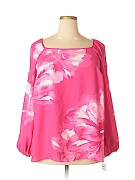 INC International Concepts Long Sleeve Blouse Size 2X (Plus)