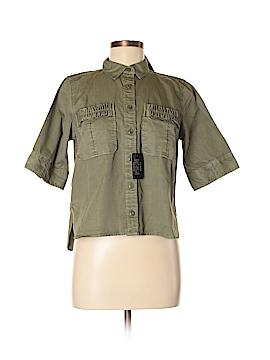 J. Crew Short Sleeve Button-Down Shirt Size 8 (Petite)
