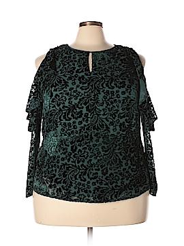 Nanette Lepore 3/4 Sleeve Blouse Size 3X (Plus)