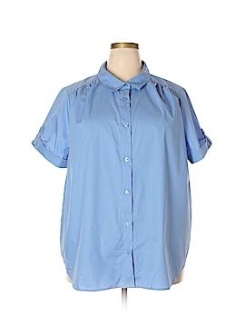 Roaman's Short Sleeve Button-Down Shirt Size 26W (Plus)