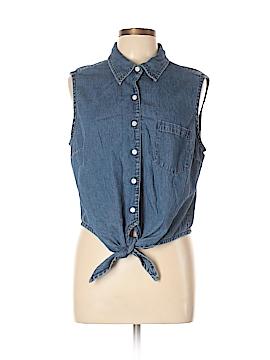 Cherokee Sleeveless Button-Down Shirt Size XL