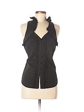 White House Black Market Sleeveless Button-Down Shirt Size 6
