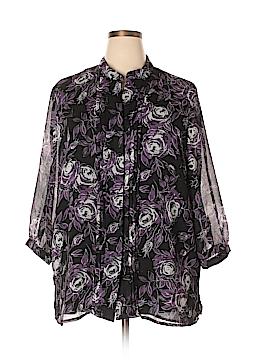 Sag Harbor 3/4 Sleeve Blouse Size 2X (Plus)