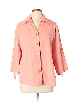 DressBarn 3/4 Sleeve Button-Down Shirt Size 14 - 16