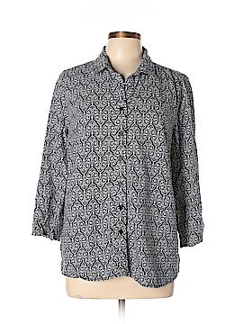 Anne Carson 3/4 Sleeve Button-Down Shirt Size L