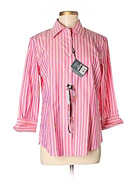 KIRKLAND Signature 3/4 Sleeve Button-Down Shirt Size M
