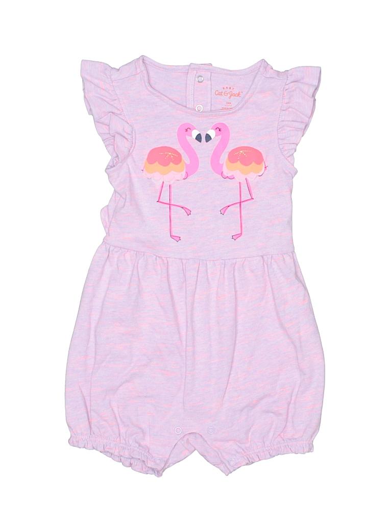 4f3b99e32f13 Cat   Jack 100% Cotton Graphic Purple Romper Size 18 mo - 64% off ...