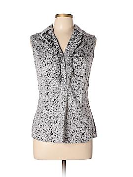 New York & Company Sleeveless Button-Down Shirt Size L