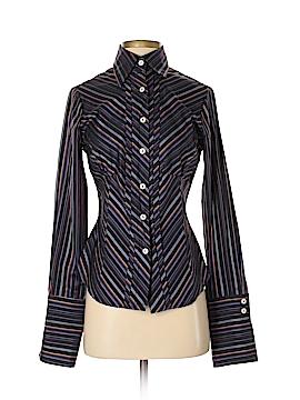 Farinaz Taghavi Long Sleeve Button-Down Shirt Size 4