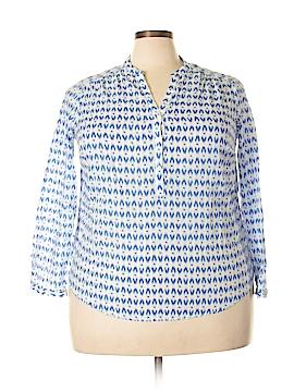 Fleur bleue Long Sleeve Blouse Size 1X (Plus)
