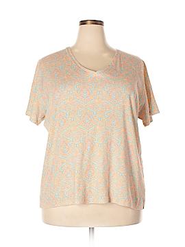 Jones New York Signature Short Sleeve T-Shirt Size 3X (Plus)