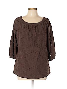 Liz & Co 3/4 Sleeve Top Size XL