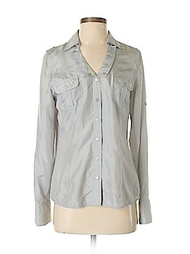 Nine West Long Sleeve Silk Top Size S