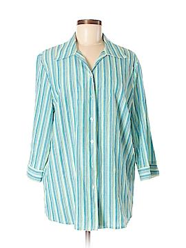 Alia 3/4 Sleeve Button-Down Shirt Size 16