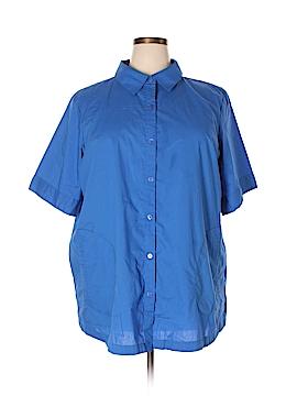 Joan Rivers Short Sleeve Button-Down Shirt Size 2X (Plus)