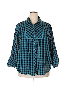 Roaman's Long Sleeve Button-Down Shirt Size 24 (Plus)