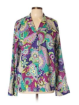 Vera Bradley Long Sleeve Button-Down Shirt Size XL