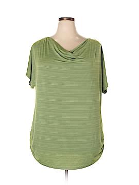 Susan Lawrence Short Sleeve Blouse Size 3X (Plus)
