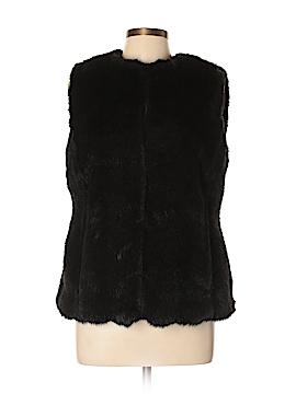 Chaps Faux Fur Vest Size L