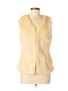 B Sharp Faux Fur Vest Size M