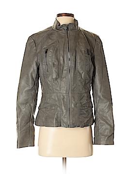 Roz & Ali Faux Leather Jacket Size S