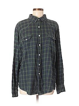 Paper Denim & Cloth Long Sleeve Button-Down Shirt Size L
