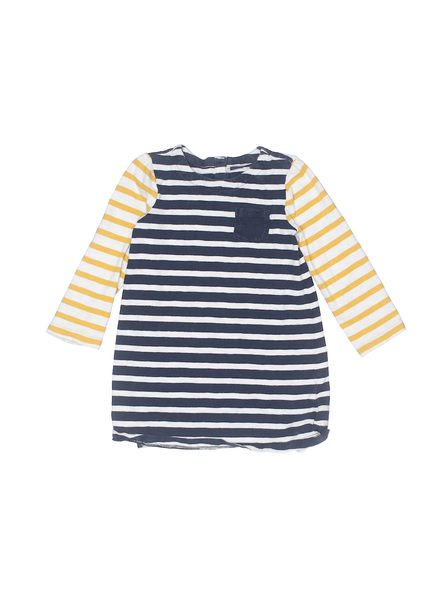 Baby Gap Cotton Stripes Dark Blue Dress Size 3T off