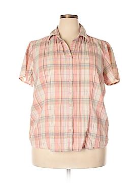 CB Short Sleeve Button-Down Shirt Size 1X (Plus)