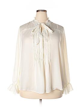 NANETTE Nanette Lepore Long Sleeve Blouse Size 2X (Plus)