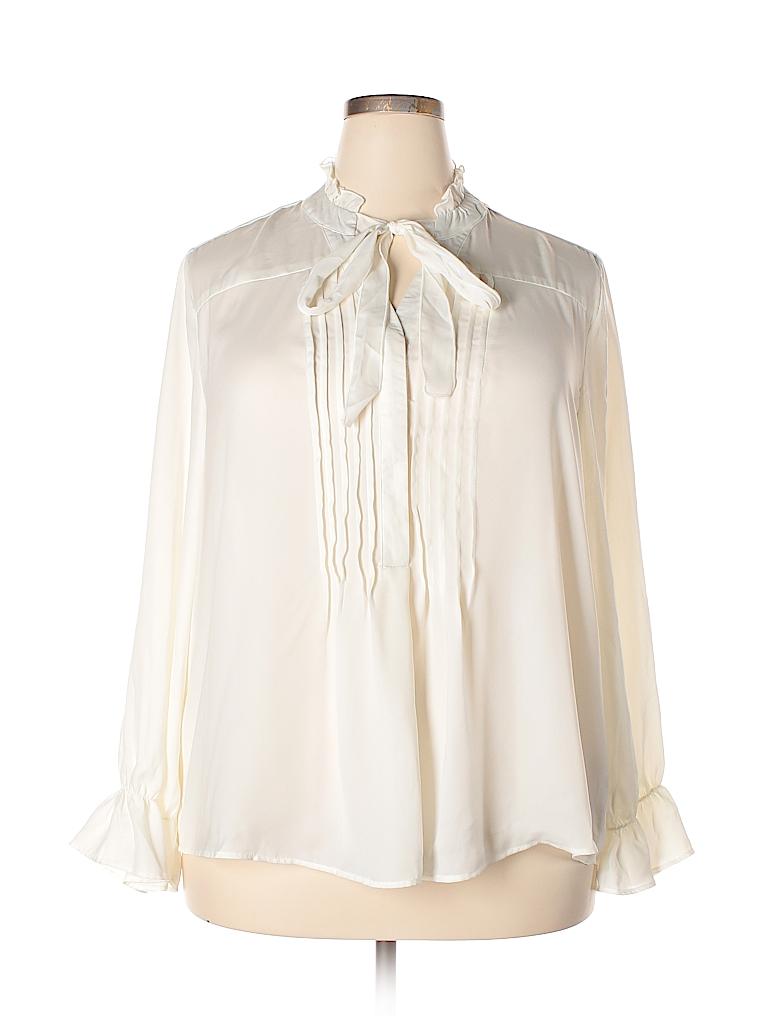 NANETTE Nanette Lepore Women Long Sleeve Blouse Size 1X (Plus)